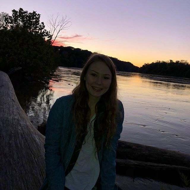 Caitlin Frangel at river